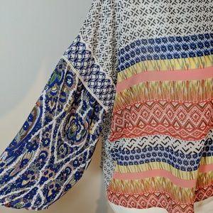 hazel Tops - hazel Multicolored Rayon Lace Top